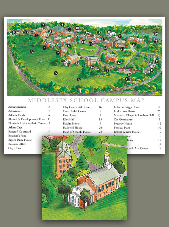 Middlesex School Campus map