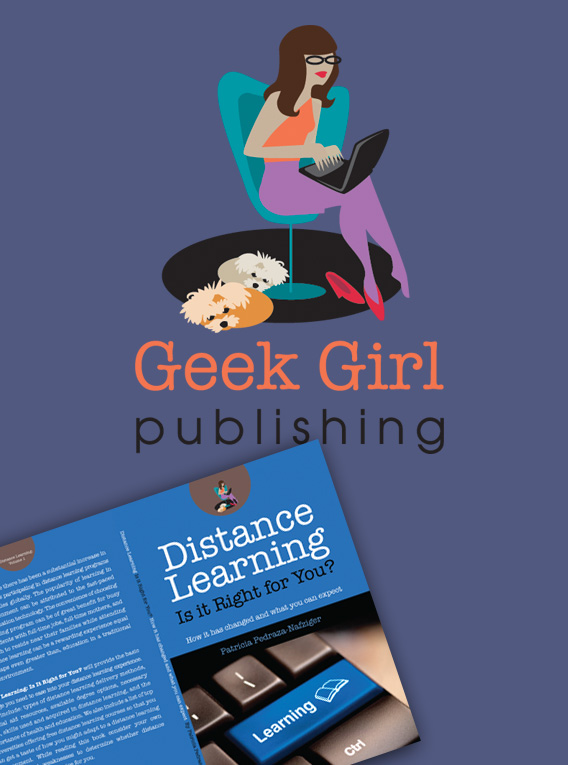 Geek Girl Publications Logo and book covers